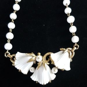Vintage Trifari Patented Glass Beaded Necklace